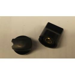 Instr. knop voor 6mm as zwart 20x20mm