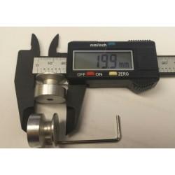 ALU snaarwiel d-20, H-15mm as-4mm