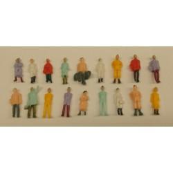 18x figuren1/87 geschilderd H-20-23mm