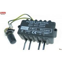 Motoren- en lampenregel.230V max 1200VA
