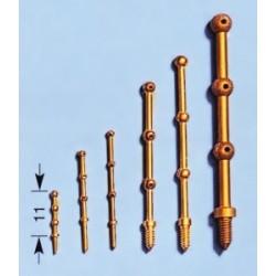 relingpaaltjes 40mm 3gats 10st