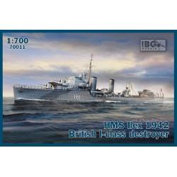 HMS IIEX 1942 BRITISH DESTROYER 1/700