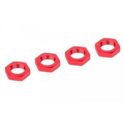 corally 00180-230 Alu 17mm wielmoer rood 4st (FIJN DRAAD)