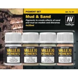 Pigment set Mud & Sand 4x35ml.