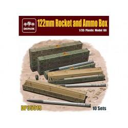 122MM ROCKET AND AMMO BOX 10ST. 1/35