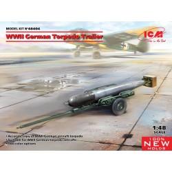 WWII GERMAN TORPEDO TRAILER 1/48