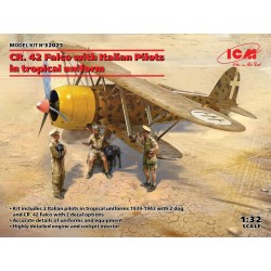 CR.42 FALCO w/ PILOTS 1/32