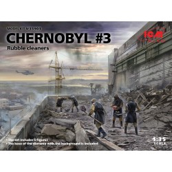 CHERNOBYL 3 RUBBLE CLEANERS 5-FIG. 1/35