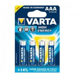 Varta 4x AAA alkaline batterij