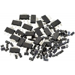 Assortiment div. smd transistoren 100st.