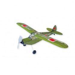Houten bouwmodel Piper L-21, rubber motor, spanw. 54cm